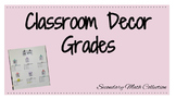 Classroom Decor: Grades Bulletin Board Text