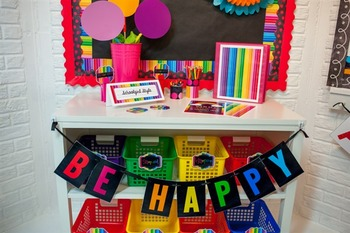Classroom Decor Happy Rainbow - Full Collection Bundle