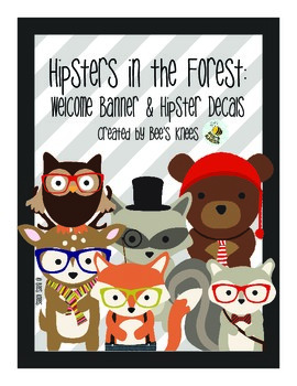 Classroom Decor - Hipsters in the Forest: Welcome Banner &