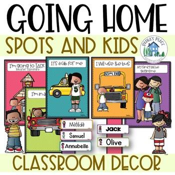 Classroom Decor - How do you go home? - Spots and Melonheadz