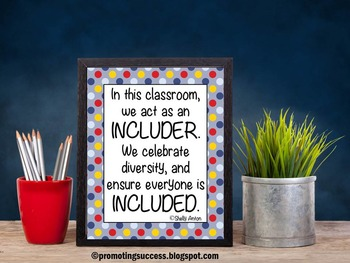 Inclusion Quote Poster for Classroom Decor Special Educati