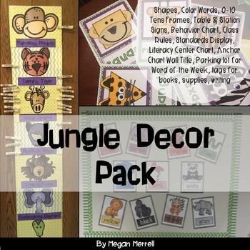 Classroom Decor Jungle Theme by Megan Merrell
