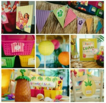 Classroom Decor Luau - Full Collection
