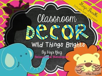 Classroom Decor Mega Bundle: Wild Things Brights