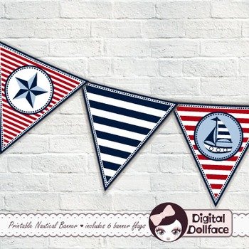 Classroom Decor / Nautical Pennant Banner / Flag Bunting