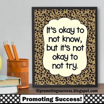 Leopard or Cheetah { Animal Print } Teacher Classroom Deco