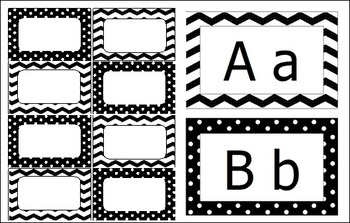 Classroom Decor Pack - Black and White Design