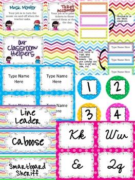 Classroom Decor Pack-Bright Colors