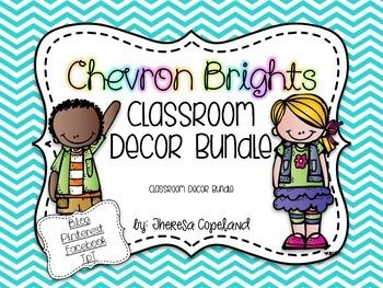 Classroom Decor Pack Bundle {Chevron Brights}