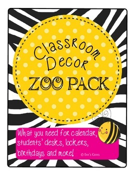 Classroom Decor Pack - The Zoo