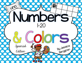 Classroom Decor-Polka Dots and Paws {Spanish Numbers, Colo