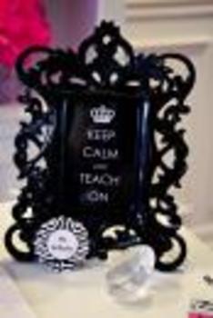 Classroom Decor Rock Star Keep Calm Inspirational Print