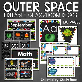 Classroom Decor Set - Outer Space Theme - With Tons of EDI
