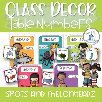 Classroom Decor - Table Numbers - Spots and Melonheadz
