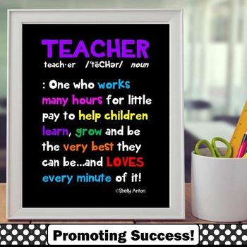 Teacher Appreciation Week Gift Idea ~ Printable Definition