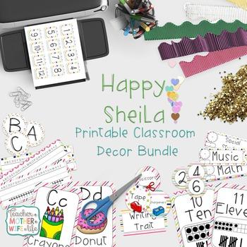 Classroom Decor- The Happy Sheila Bundle