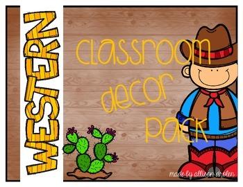 Classroom Decor Western Edition