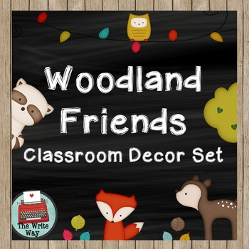 Classroom Decor - Woodland Friends