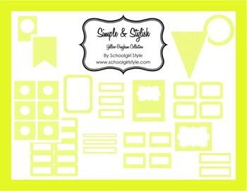 Classroom Decor and Organization Yellow Gingham