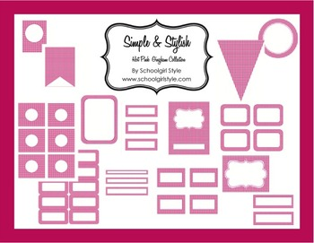 Classroom Decor and Organization Hot Pink Gingham