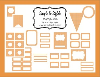 Classroom Decor and Organization Orange Gingham