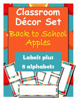 Classroom Decoration: Back-to-School Apples Labels, Name P