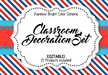 Classroom Decoration Set - Team USA: Red, White, and Blue