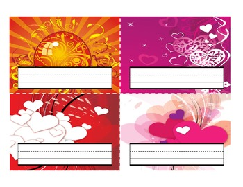 Classroom Desktop Name tag Nameplate Collection - 32 Full-