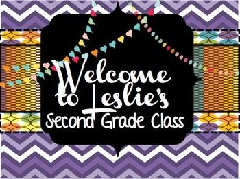 Classroom Door Sign Poster - With Editable, Customizable Text