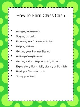Classroom Economy and Job Posters
