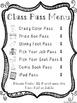Classroom Economy or Reward Passes