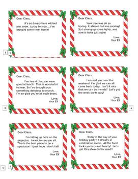 Classroom Elf Notes