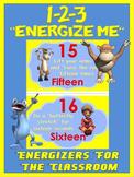 "Classroom Energizers- 1-2-3... ""Energize Me"""