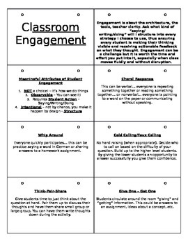 Classroom Engagement Flip Book