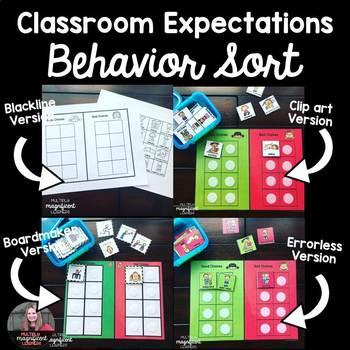 Classroom Expectations Behavior Sort