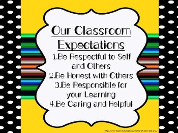 Classroom Expectations Character Growth