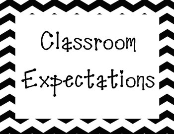 Classroom Expectations Chevron