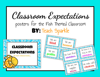 Classroom Expectations (Fish Version)