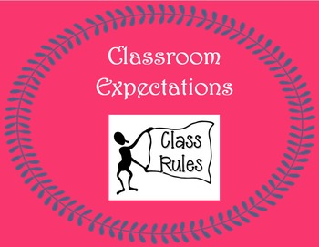 K -12 Classroom Expectations Poster - Individual, Group, E