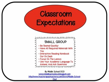 Classroom Expectations for Rotations