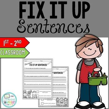 Editing Sentences Starter Pack: Capitalization, Punctuatio