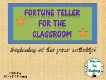 Classroom Fortune Teller