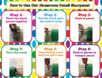 Classroom Friendly Pencil Sharpener How To Chart