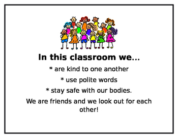 Classroom Friends Expectations Mini Poster
