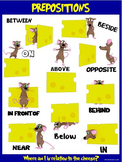 Classroom Fun Poster: Preposition Mice