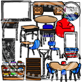 Classroom Furniture Clipart Bundle