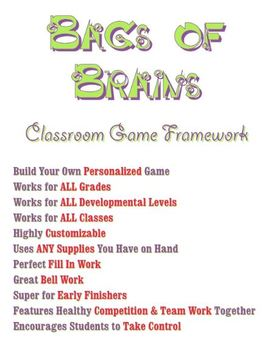 Classroom Game Framework - All Grades, Subjects - Customiz