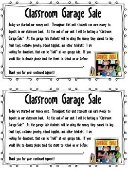 Classroom Garage Sale