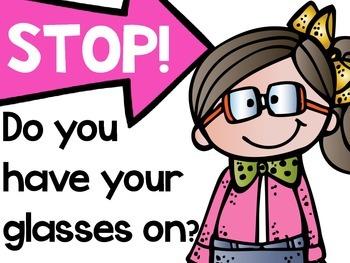 Classroom Glasses Sign(Freebie)