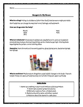 Classroom Guidance: Dangers In My House: Drugs, Inhalants,